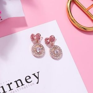 Unique Zone Jewelry - ❤️️NEW UNIQUE Cute Bow Circle Handmade Earrings H9